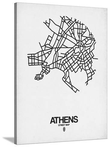 Athens Street Map White Posters By Naxart At Allposters Com