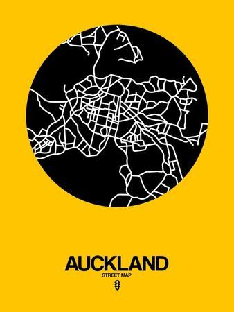 Auckland Street Map Yellow