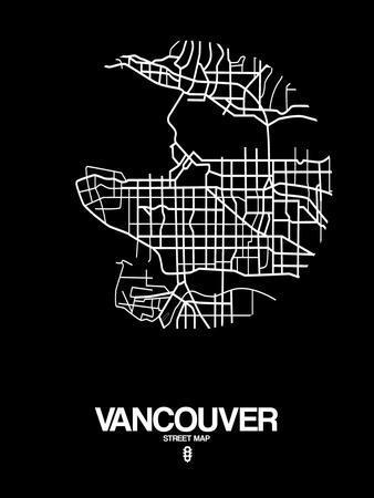 Vancouver Street Map Black