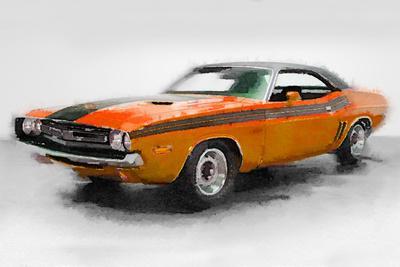 1968 Dodge Challenger Watercolor