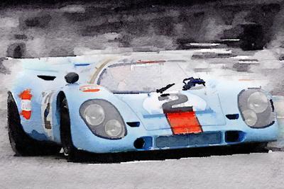 Porsche 917 Gulf Watercolor