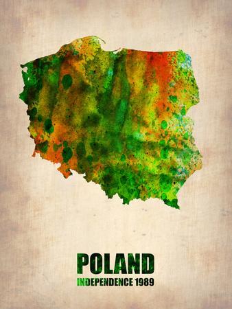 Poland Watercolor Poster