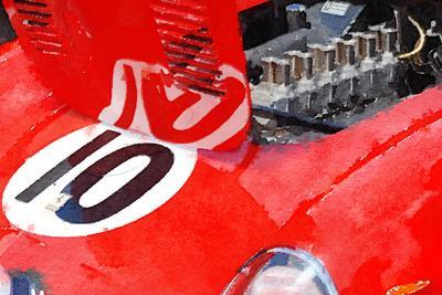 1962 Ferrari 250 GTO Engine Watercolor