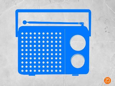 Blue Transistor Radio