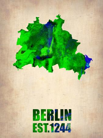 Berlin Watercolor Map