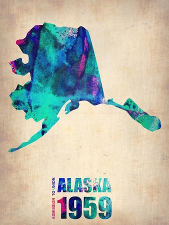 Alaska Watercolor Map