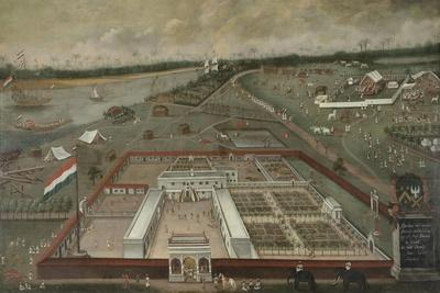 The Trading Post of the Dutch East India Company Beside the Ganges in Hooghly, Bengal, 1665