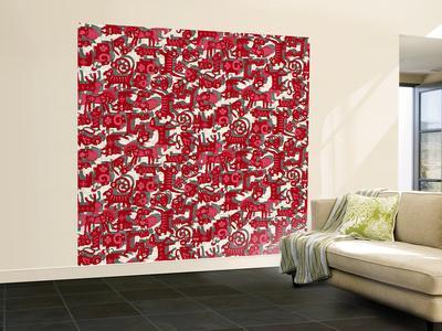 Chinese Animals Red