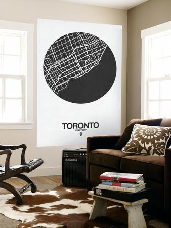 Toronto Street Map Black on White