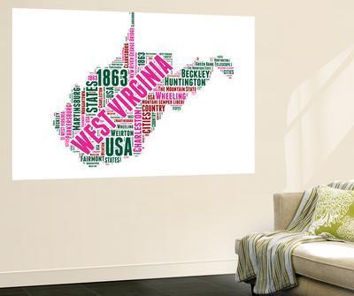 West Virginia Word Cloud Map