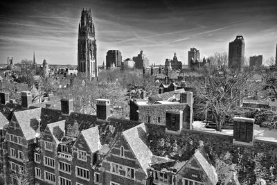 Yale University after a Winter Blizzard