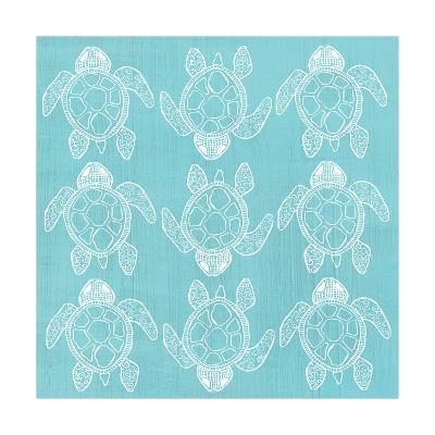 Turtle Pattern Sea Blue