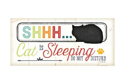 Shhh Cat Is Sleeping