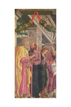 Altarpiece of St. Zeno of Verona, Left Panel Showing St. Peter, St. Paul and St. John, 1456-60