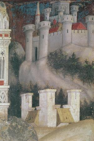 Detail of the Architecture on the Right of St. George and the Princess of Trebizond, C.1433-38