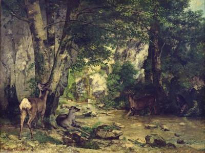 The Return of the Deer to the Stream at Plaisir-Fontaine, 1866