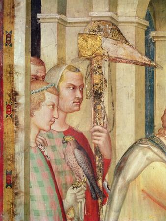 Detail of a Falconer from the Life of St. Martin, C.1326