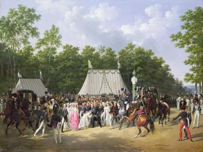 Louis XVIII (1755-1824) Greeting Marie-Caroline-Ferdinande De Bourbon, Princess of Sicily