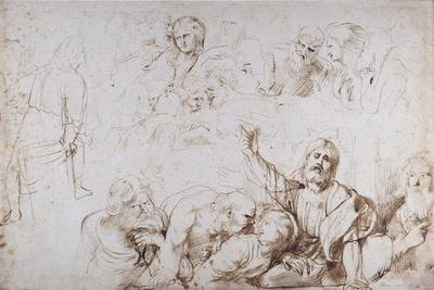 Five Groups of Figures for a Last Supper (Christ Announcing His Betrayal) C.1601-04