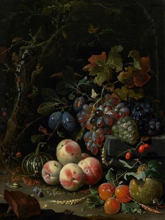 Still Life with Fruit, Foliage and Insects, C.1669