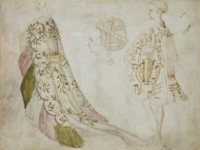 Recto: Studies of Costume