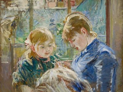 The Artist's Daughter, Julie, with Her Nanny, C.1884