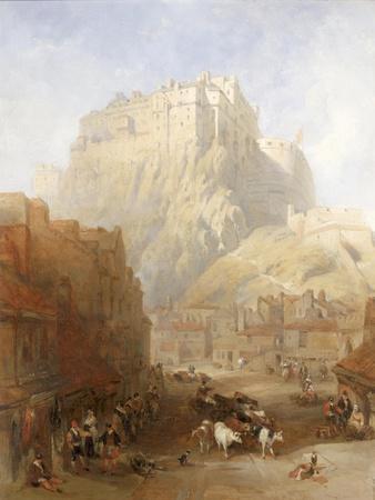 Edinburgh Castle from the Grassmarket, 1837