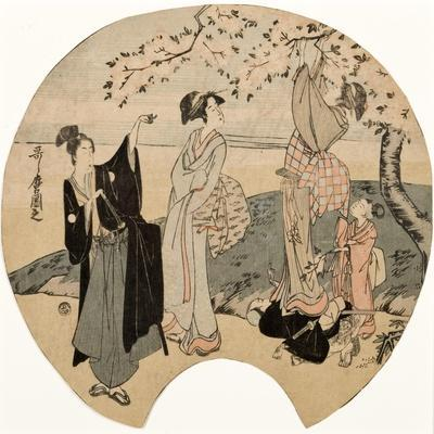 Viewing Cherry Blossoms, 1794-96
