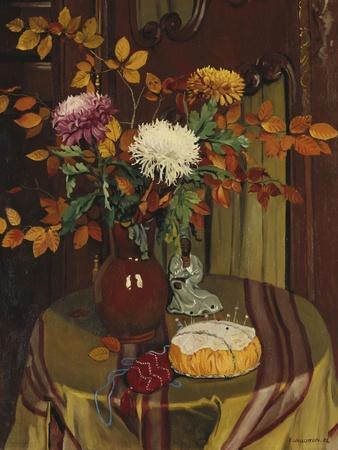 Chrysanthemums and Autumn Foilage; Chrysanthemes Et Feuillage D'Automne, 1922