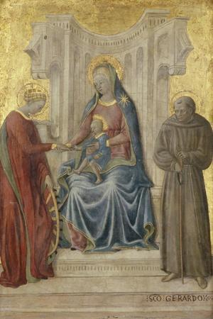 Enthroned Madonna with Child and Saints Gerhard and Katharina, C.1450