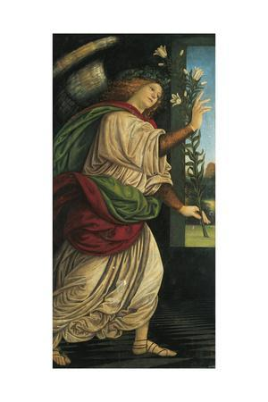 Italy, Varallo, Painting of the Archangel Gabriel