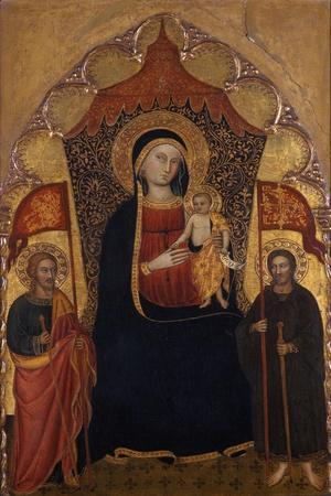 Enthroned Madonna and Child with the Apostle Jacob the Elder and St. Ranieri, C.1410-20