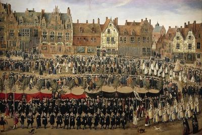 Belgium, Brussels, Procession of Maids of Sablon