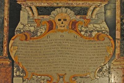 Grave Marker with Skull, St. John's Catholic Co-Cathedral, 1577