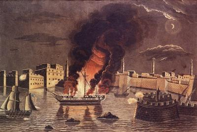 Burning of the Frigate 'Philadelphia', in the Harbour of Tripoli on 16th February 1804
