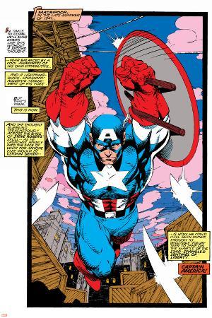Uncanny X-Men No.268 Cover: Captain America