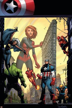 Marvel Adventures The Avengers No.29 Cover: Captain Marvel