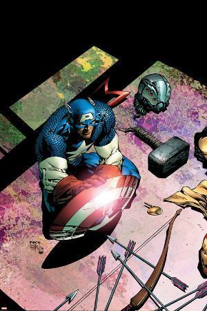 Avengers No.503 Cover: Captain America and Mjolnir