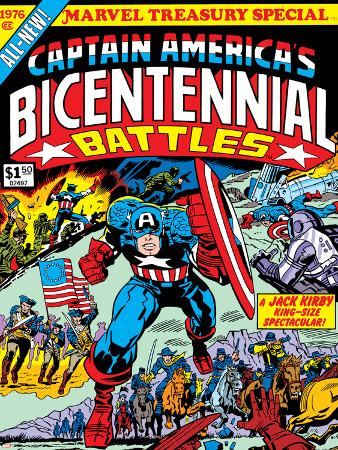 Captain America Bicentennial Battles Cover: Captain America Charging