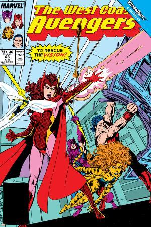 Avengers West Coast No.43 Cover: Scarlet Witch