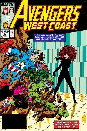 Avengers West Coast No.47 Cover: Scarlet Witch, Captain America and She-Hulk