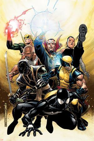 New Avengers Annual No.2 Cover: Spider-Man, Wolverine, Ronin and Dr. Strange