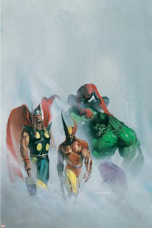 Secret War V1 No.1 Group: Wolverine, Thor, Hulk and Spider-man