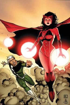 The Mighty Avengers No.24 Cover: Scarlet Witch and Quicksilver