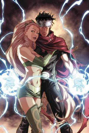Dark Reign: Young Avengers No.4 Cover: Wiccan and Enchantress