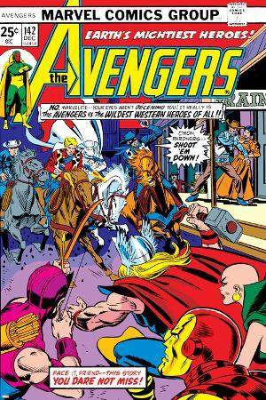 Avengers No.142 Cover: Thor, Hawkeye, Iron Man, Rawhide Kid, Kid Colt and Avengers