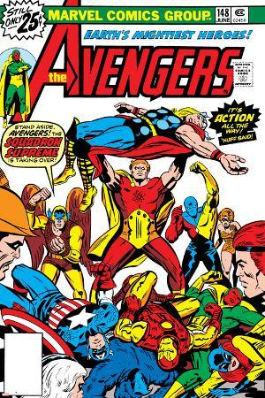 Avengers No.148 Cover: Iron Man, Captain America, Hyperion, Thor, Avengers and Squadron Supreme
