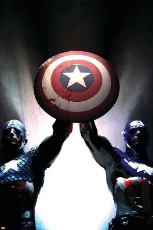 Captain America Reborn: Who will weild the shield? Cover: Captain America