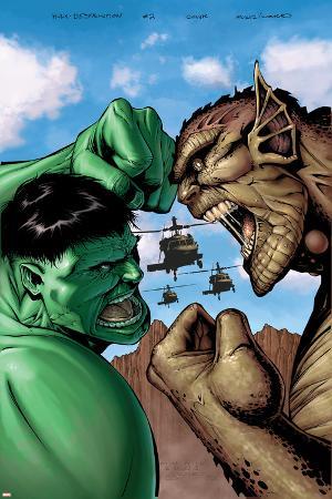 Hulk: Destruction No.2 Cover: Hulk and Abomination