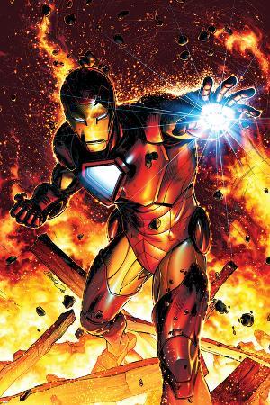 Invincible Iron Man No.2 Cover: Iron Man